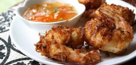 Coconut-Beer-Batter-Fried-Shrimp-with-Pineapple-Salsa