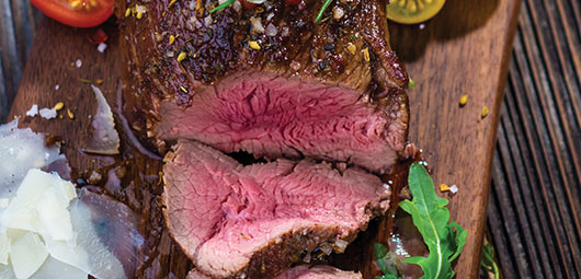 Grilled Beef Fillet with Herb & Parmesan Crust