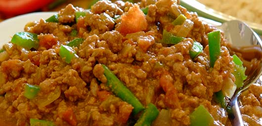 Mince and Green Bean Curry