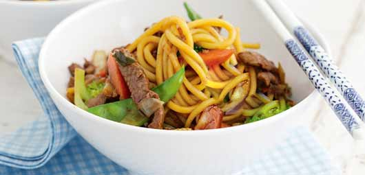 Spicy Orange Lamb and Noodle Stir Fry