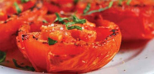 Juicy Pan Fried Tomatoes