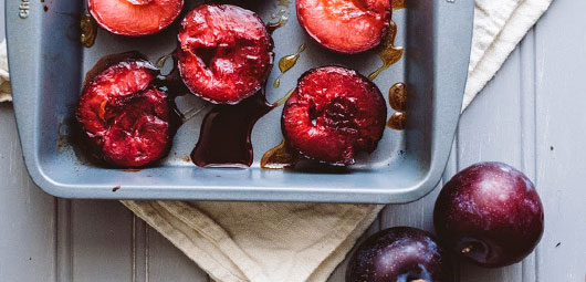 Roasted Plums with Sage & Honey