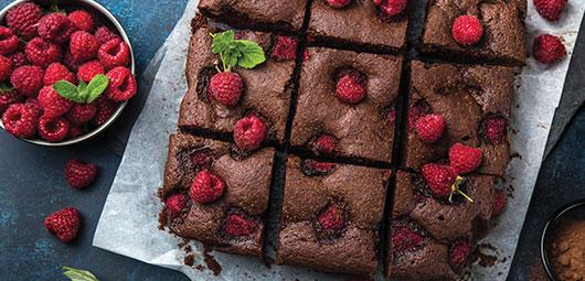Chocolate-&-Raspberry-Brownies
