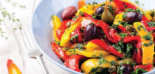 Grilled-Pepper-&-Olive-Salad