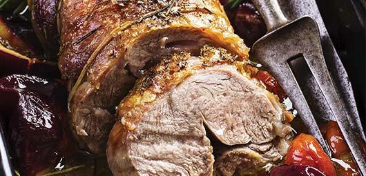 Roast Lamb & Plums